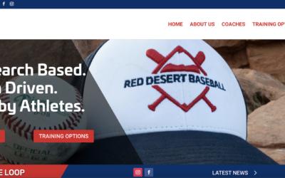 Website Design and Development: Red Desert Baseball