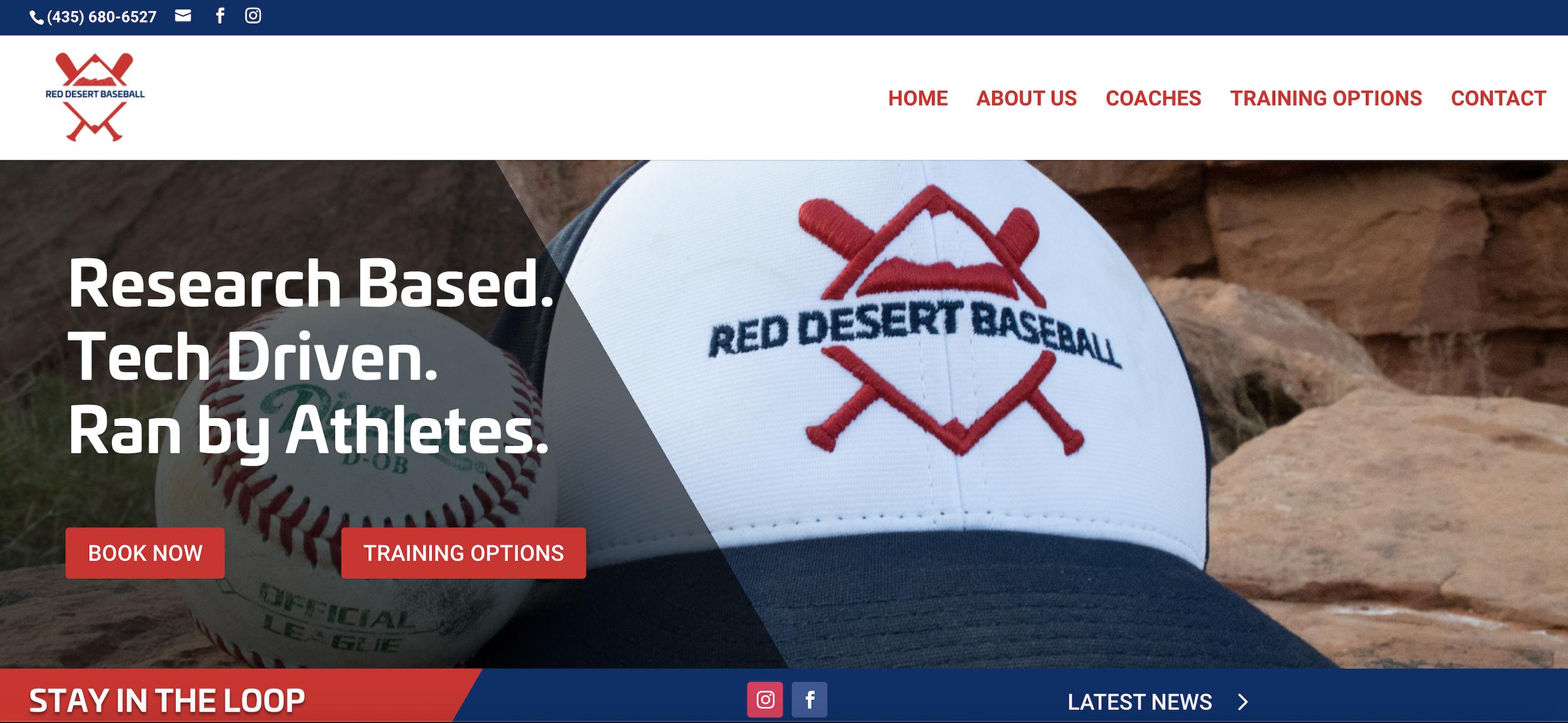 website design red desert baseball